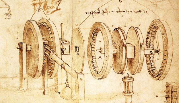Leonardo da Vinci invention drawing